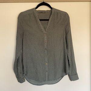 Plaid Button down blouse Size S